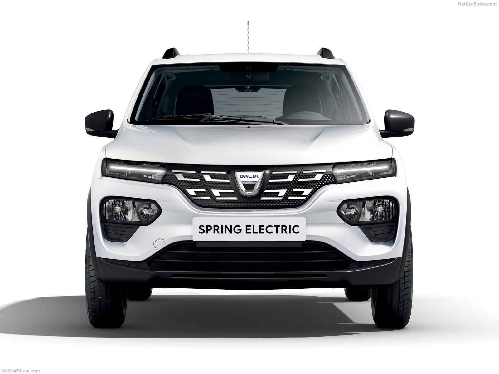 Dacia Spring pe alb - Dacia Spring pe alb
