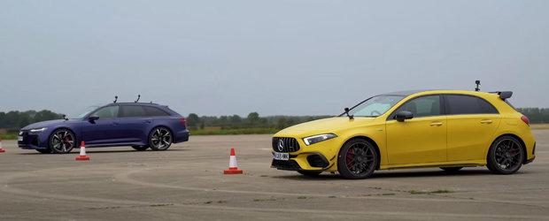 David vs Goliat: Masina cu cel mai puternic 2.0 litri din industrie intalneste noul RS6 Avant