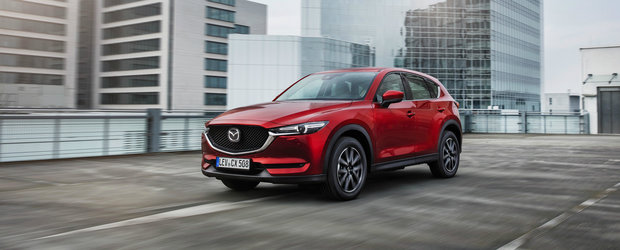 De-acum consuma si mai putin. Mazda CX-5 primeste tehnologia de dezactivare a cilindrilor si multe alte dotari standard