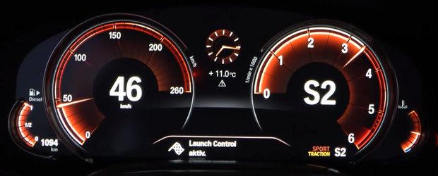 De asta este in stare un motor diesel quad turbo. Test de acceleratie cu noul BMW 750d