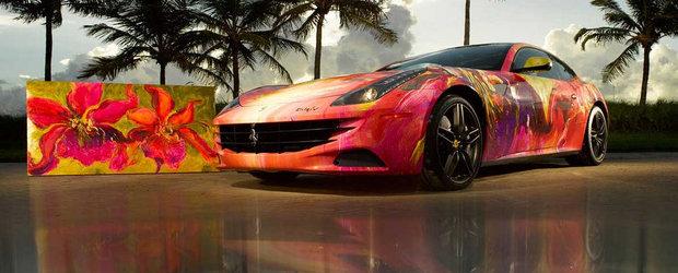 De la masina la pictura: Transformarea unui Ferrari FF in opera de arta
