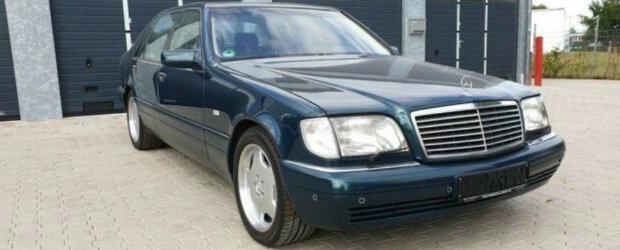 De pe vremea cand Balena facea legea: acest Mercedes S-Class are motor de 7.0 litri sub capota, frigider si GPS in cabina