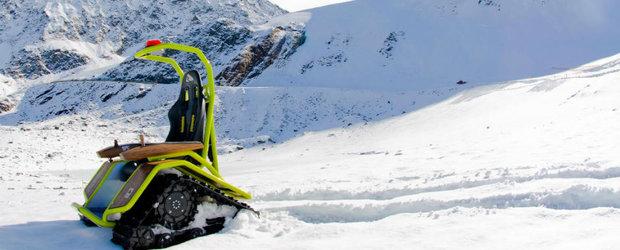 De sezon: Ziesel, cel mai tare snowmobil electric