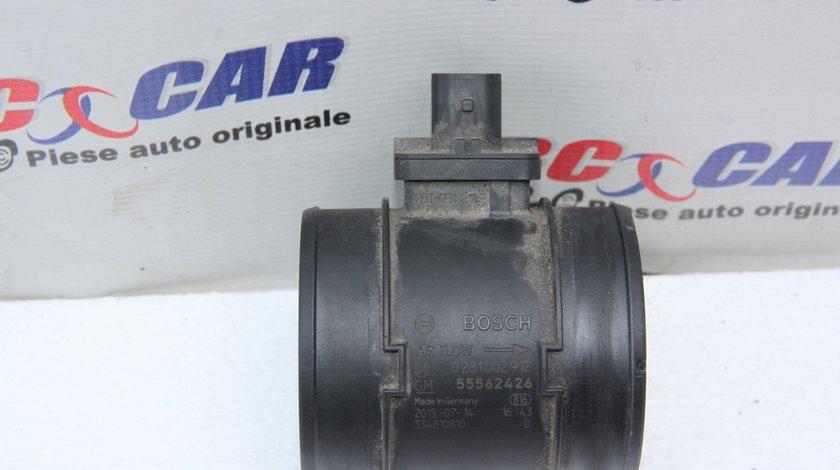Debitmetru aer Opel Zafira C cod: 0281002912 / 55562426 2.0 CDTI 131 CP Euro 5 model 2014