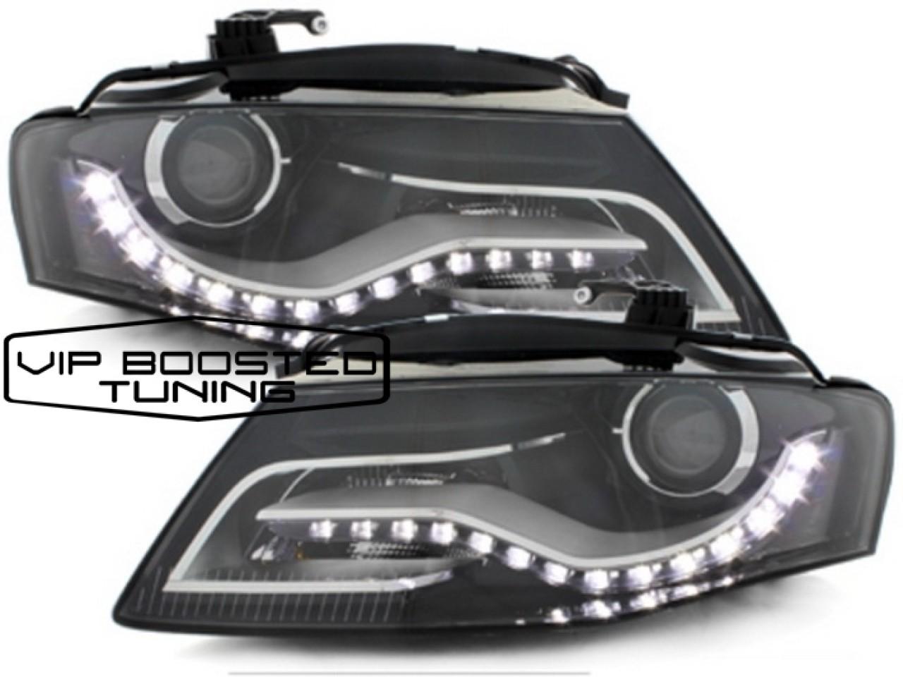 DECTANE Faruri LED AUDI A4 B8 8K cu Lumini de Zi DRL