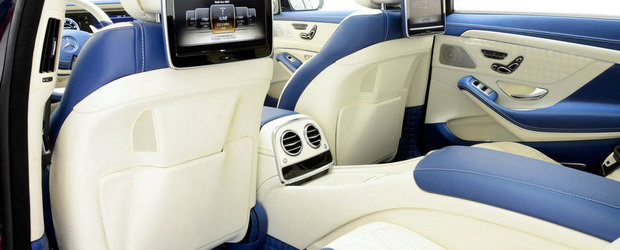 Definitia exclusivitatii: Brabus S63 AMG cu interior in albastru si bej