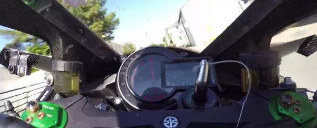 Dementa pe 2 roti: Cum se vad 330+ km/h de pe un Kawasaki H2R