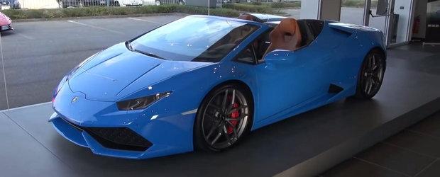 Descopera si admira fiecare detaliu al noului Lamborghini Huracan Spyder