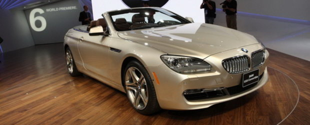 Detroit 2011: Noul BMW Seria 6 Convertible pozeaza topless in Motor City!