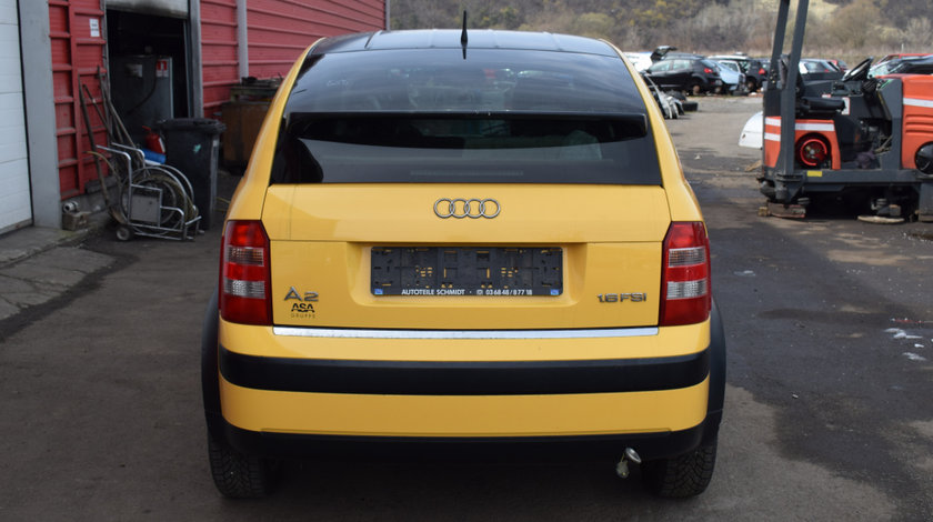 Dezmembrez Audi A2 1.6 FSI 81 KW 2003 BAD galben LY1C cod cutie GSK 565