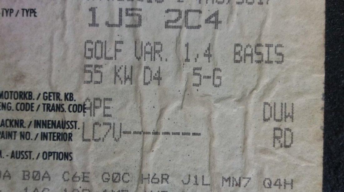 Dezmembrez vw golf 4 breck 1.4 16v