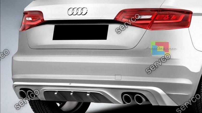 Dfuzor bara spate ABT Audi A3 8V S3 Rs3 Sline S line Sportback Coupe 2012 – 2016 ver1