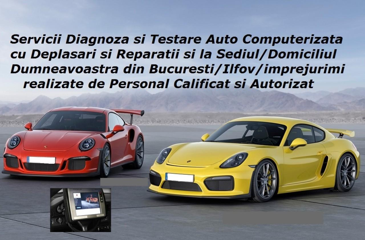 Diagnoza Porsche tester auto la domiciliu