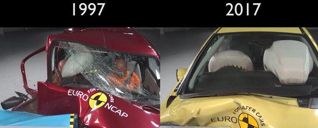 Diferenta de siguranta dintre o masina noua si una fabricata acum 20 de ani