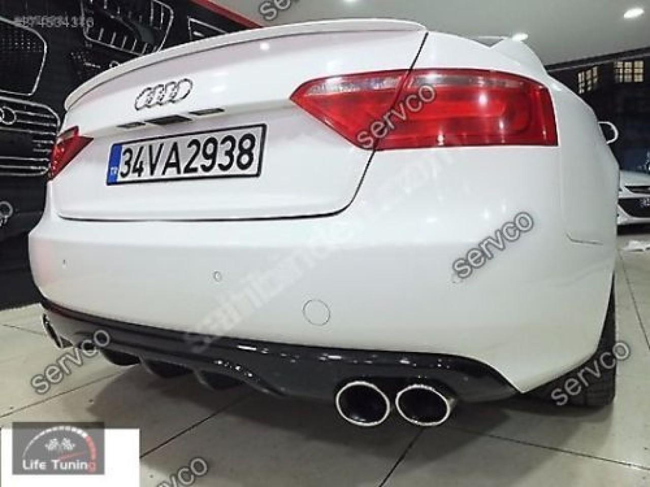 Difuzor ABT adaos ornament tuning sport bara spate Audi A5 Sportback 2009-2012 S5 v2