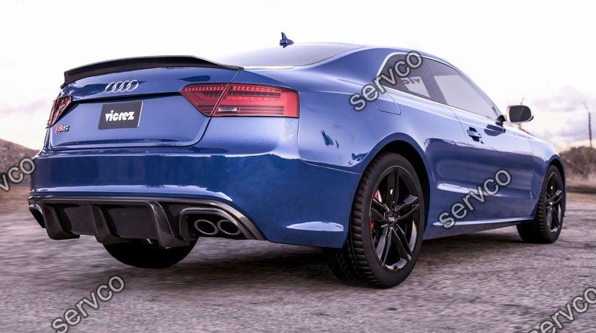Difuzor adaos ornament bara spate Audi A5 Coupe Cabrio Sline ABT DTM S5 2012-2015 v10