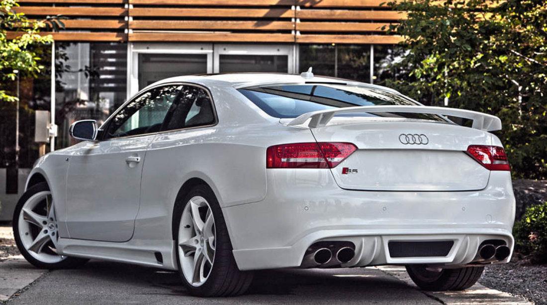 Difuzor bara spate Audi A5 8T Coupe Cabrio Rieger S line S5 Rs5 2007-2011 v4