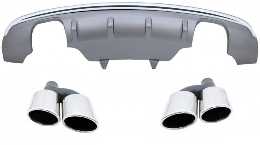 Difuzor Bara Spate AUDI Q5 8R Facelift Evacuare Dubla (13-16) pentru Bara Standard