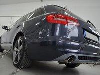 Difuzor bara spate bara spate Audi A6 C6 4F Facelift 2009 2011 Sline S6 Rs6 Avant ver1