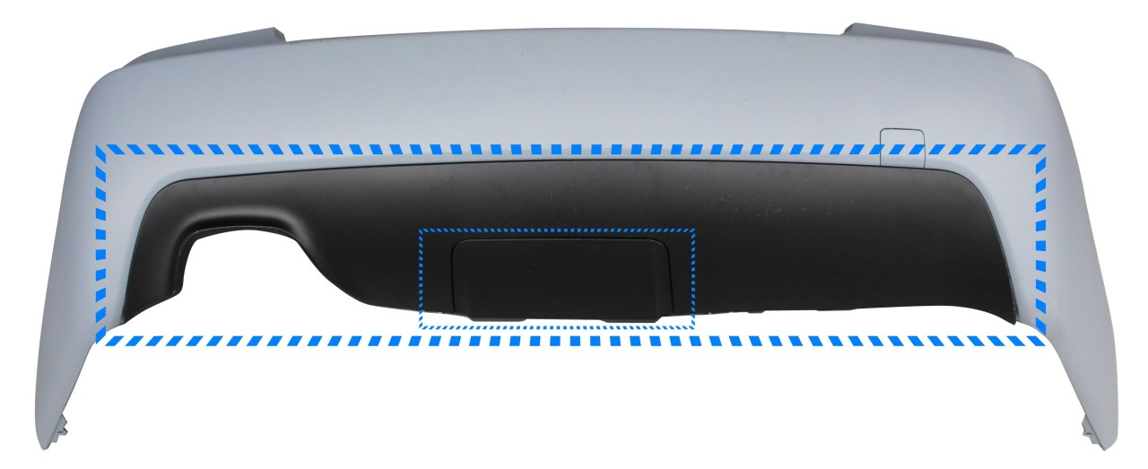 Difuzor bara spate BMW E60 Seria 5 (03-10) M-Pachet, cu loc carlig