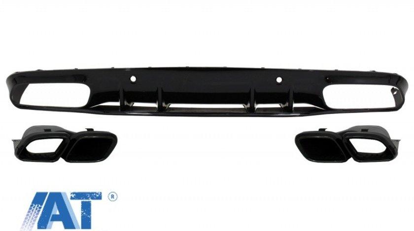 Difuzor Bara Spate compatibil cu MERCEDES C-Class C205 A205 Coupe Cabriolet (2014-2019) Facelift C63S Design Negru