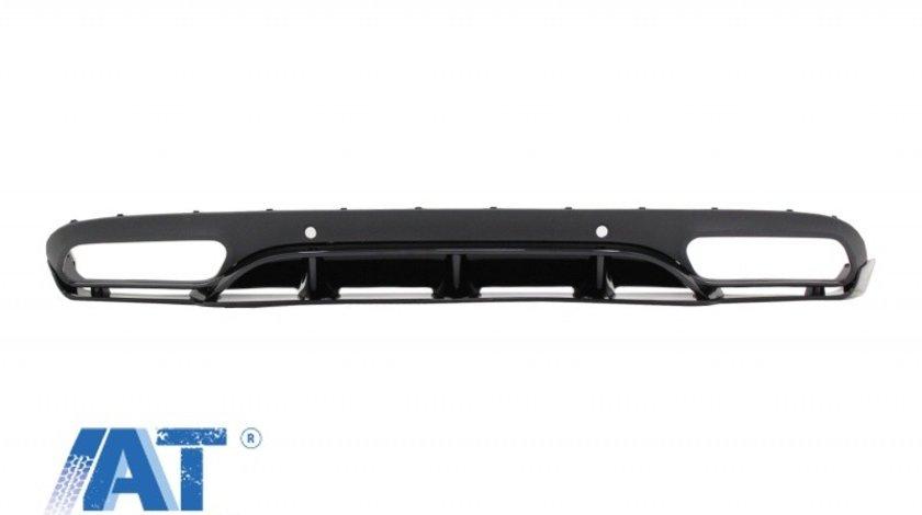Difuzor Bara Spate compatibil cu MERCEDES C-Class C205 A205 Coupe Cabriolet (2014-2019) C63 Edition 1 Design Negru Lucios