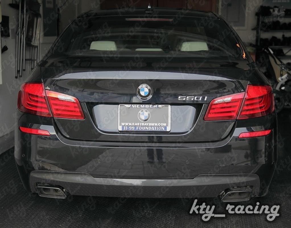 Difuzor bara spate M dark shadow BMW seria 5 6 F06 F10 F11 F12 F13 pentru montare esapament dublu