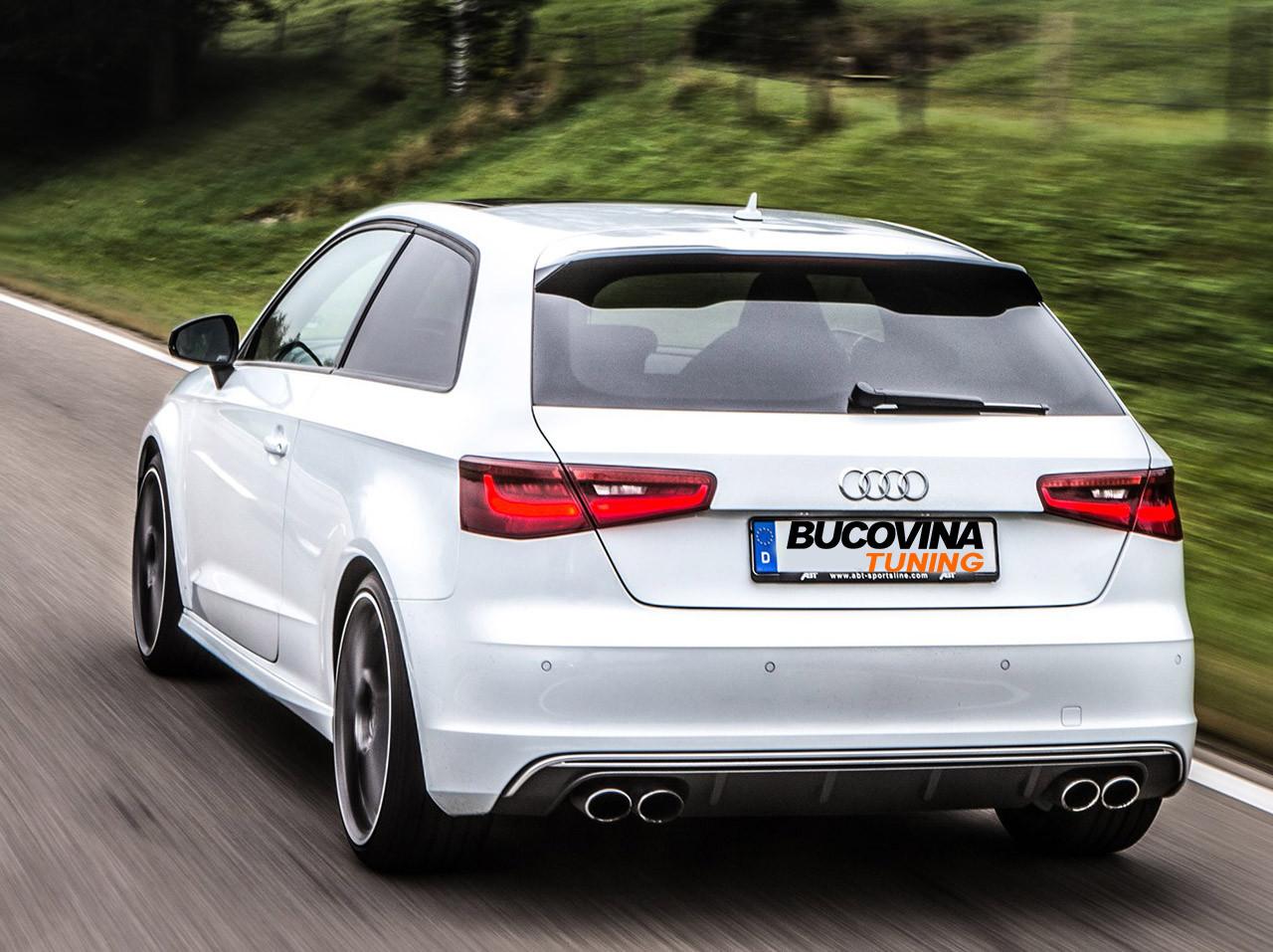 Difuzor bara spate si ornamente evacuare Audi A3 8V Hatchback Sportback (12-15) S3 Design
