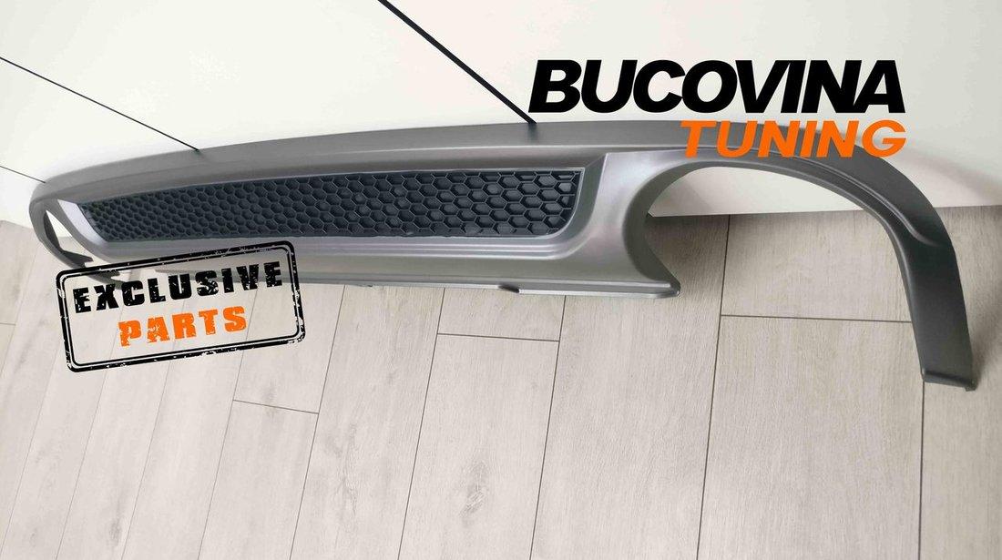 Difuzor bara spate si ornamente evacuare Audi A4 B8.5 8K2 (12-15) S-Line Design