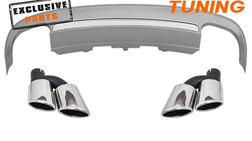 Difuzor bara spate si ornamente evacuare Audi A5 8T Coupe (12-15) S5 Design
