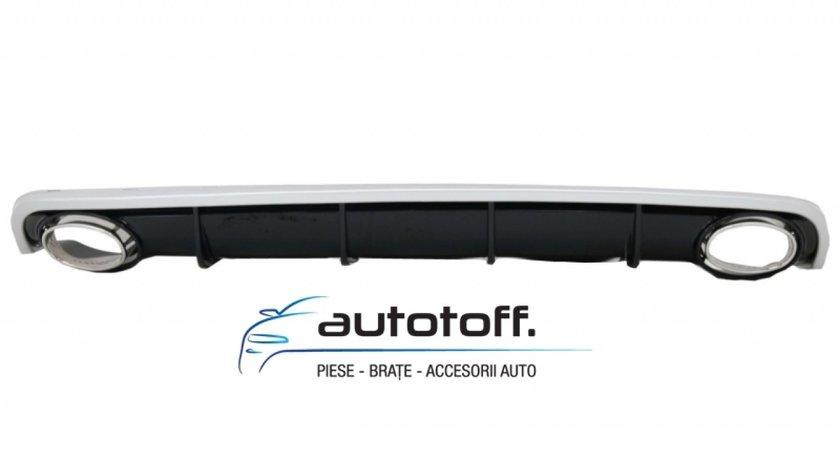 Difuzor Bara Spate si Ornamente Evacuare Audi A6 4G (2010-2014) RS6 Design