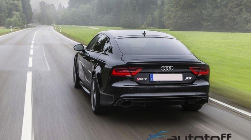 Difuzor Bara Spate si Ornamente Evacuare Audi A7 4G (2010-2014) RS7 Design