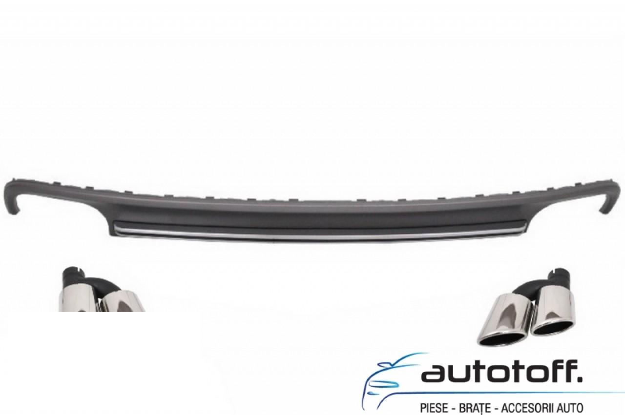 Difuzor Bara Spate si Ornamente Evacuare Audi A7 4G (2010-2014) S7 Facelift Design