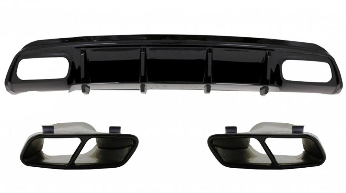 Difuzor bara spate si ornamente evacuare Mercedes Benz A-Class W176 (12-18) AMG A45 Design