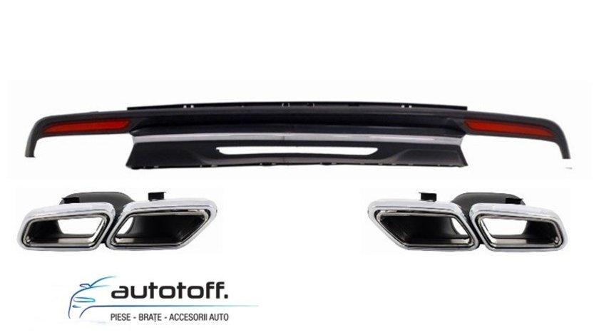 Difuzor bara spate si ornamente evacuare Mercedes S-Class W222 (2013+) S63 Design