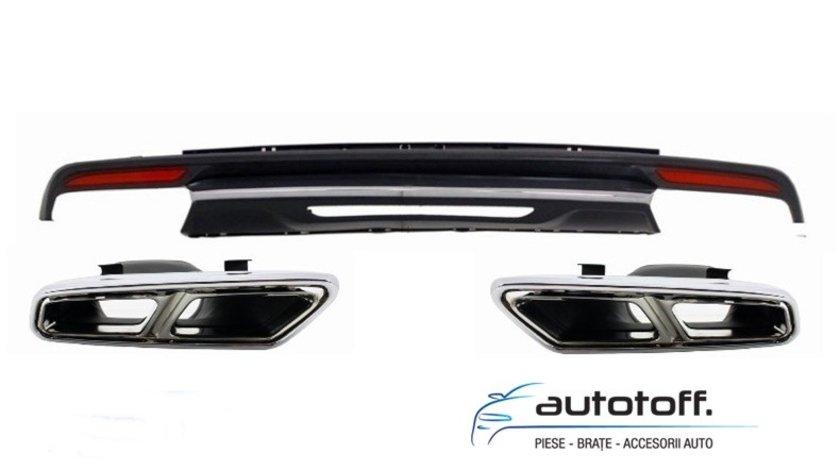 Difuzor bara spate si ornamente evacuare Mercedes S-Class W222 (2013+) S65 Design