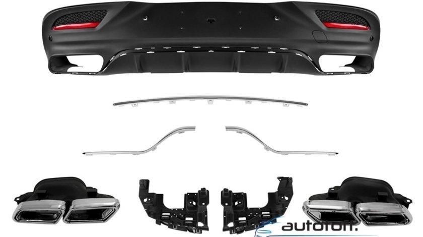 Difuzor bara spate si ornamente evacuare Mercedes GLE Coupe C292 (2015+) AMG Design
