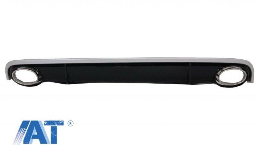 Difuzor Bara Spate si Ornamente Evacuare compatibil cu AUDI A7 4G (2010-2014) RS7 Design
