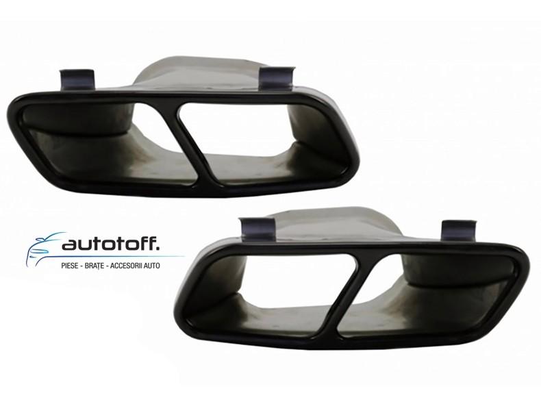 Difuzor bara spate si ornamente evacuare Mercesdes Benz A-Class W176 (2012-2018) AMG A45 Design