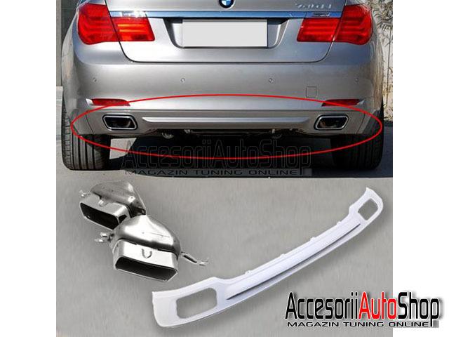 Difuzor Bara spate si ornamente toba BMW Seria 7 F01 - 399 EURO
