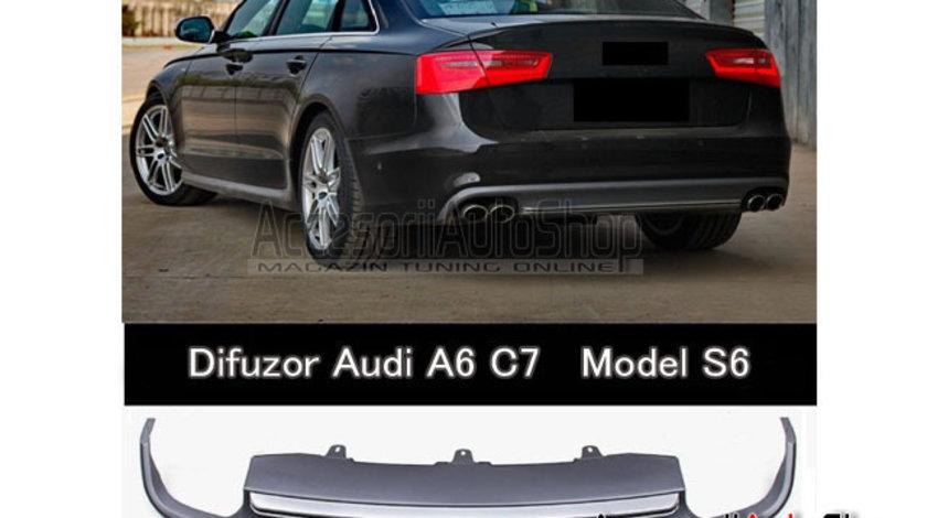 Difuzor Bara spate + Tobe AUDI A6 4G C7 2011-2014 MODEL S6