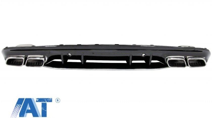 Difuzor compatibil cu MERCEDES C-Class W205 S205 (2014-2020) C63S Design pentru bara AMG Sport Line