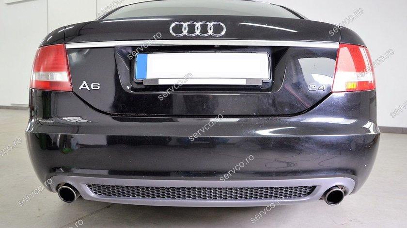 Difuzor evacuare bara spate Audi A6 C6 2004-2008 Sline S6 Rs6 Sedan Limuzina ver3