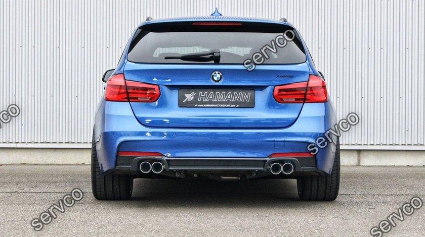 Difuzor evacuare spoiler bara spate M Pachet BMW F30 F31 Aero Performance Hamann