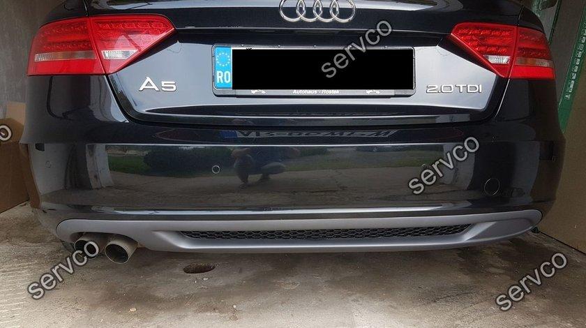 Difuzor evacuare spoiler tuning sport bara spate Audi A5 Sportback 2009-2012 S5 Sline v3