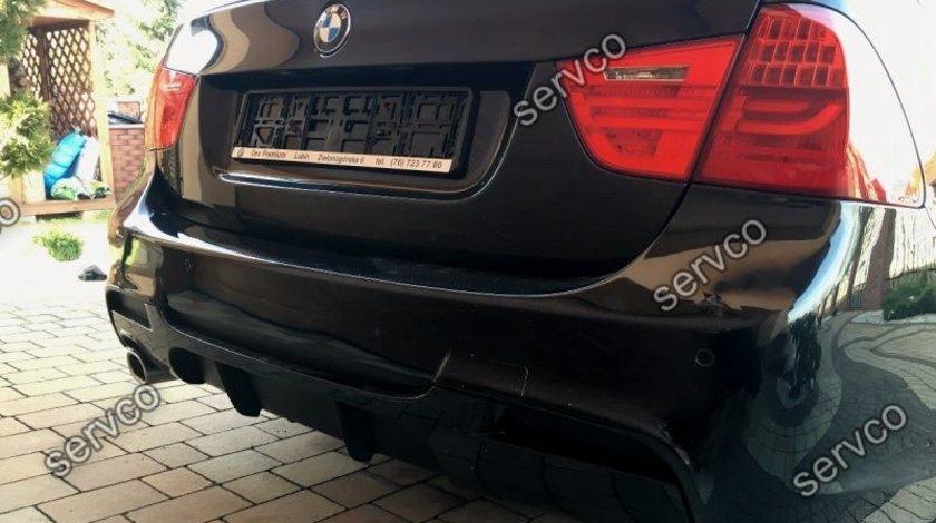 Difuzor ornament extensie bara spate BMW E90 E91 pt bara pachet M 2005-2009 v1
