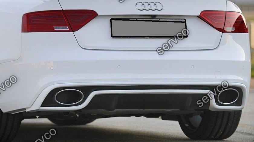 Difuzor prelungire adaos bara spate Audi A5 Sportback Sline S5 2012-2015 Rieger v11