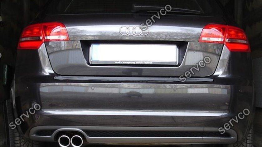 Difuzor spoiler bara spate Audi A3 8P Coupe Sportback Facelift Sline Rs3 S3 S-line 2008-2012 v5