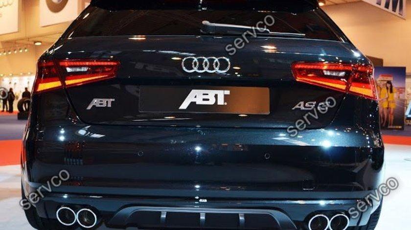 Difuzor spoiler bara spate Audi A3 8V S3 Rs3 Sline S line Sportback Coupe 2012 – 2016
