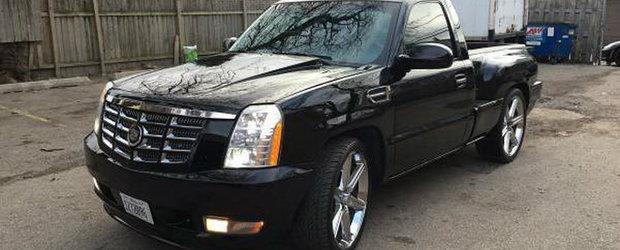 Din seria 'ce se mai vinde pe internet': Un Chevrolet Silverado cu masca de Escalade isi cauta o noua casa
